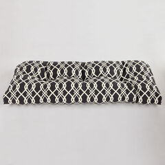 Tufted Wicker Settee Cushion, HEDDA FRESCO