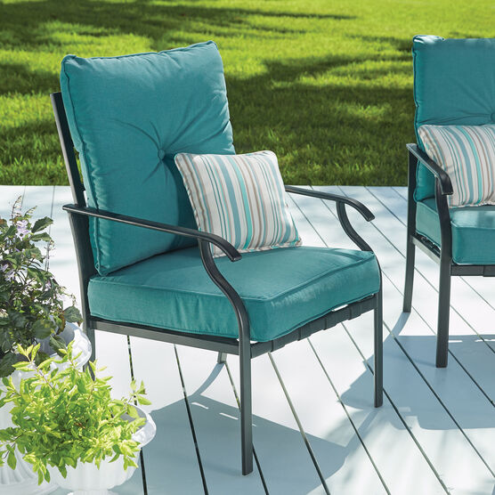 Deep Seating Steel Slat Chair, TEAL