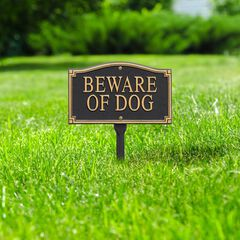 'Beware of Dog' Statement Marker,