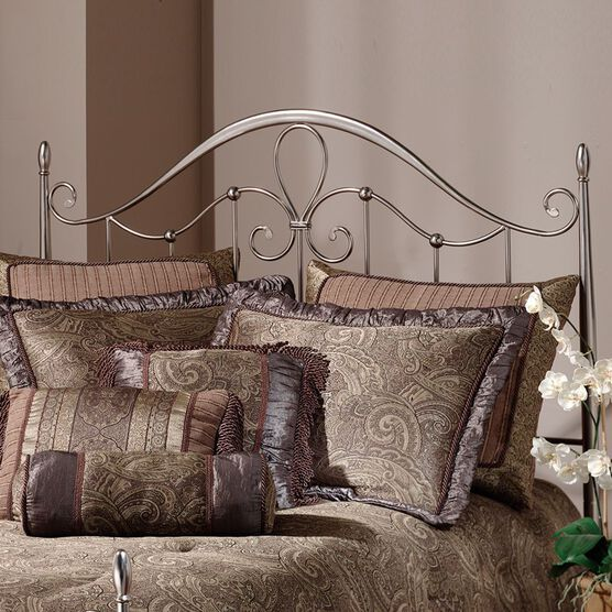King Headboard with Headboard Frame, 71½'Lx76¾'Wx55'H, ANTIQUE PEWTER