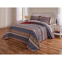 3-PC.Global Stripe Printed Bedspread,