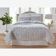 Floral 6-Pc. Quilt Set, GRAY WHITE