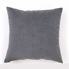 Solid Ribbed Toss Pillow,