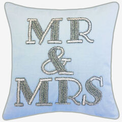 "Beaded ""Mr & Mrs"","