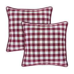 Buffalo Check Throw Pillow Covers - 18-in x 18-in - Set of Two,