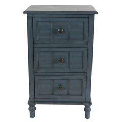 Antique Navy 3-Drawer Chest by J. Hunt,