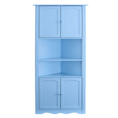 Cottage Kitchen Corner Cabinet, WATERFALL BLUE