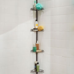 4-Tier Corner Shower Shelf, BRONZE