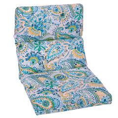 Universal Chair Cushion, PAISLEY DOODLE BLUE
