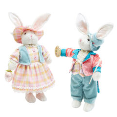 Rabbit Boy & Girl, Set of 2, MULTI
