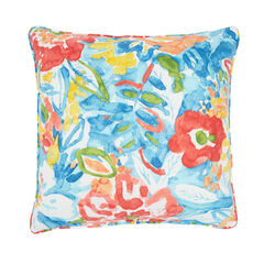 "16"" Sq. Toss Pillow, POPPY BLUE"