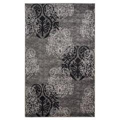 Milan Black/Grey 2'X3' Area Rug,
