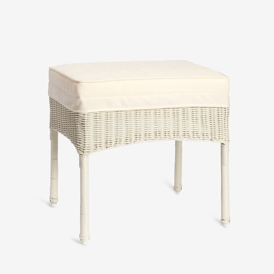 Roma All-Weather Resin Wicker Ottoman,