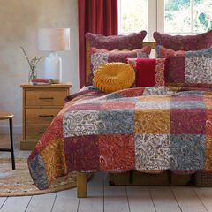 Paisley Slumber Spice Quilt Set by Barefoot Bungalow,
