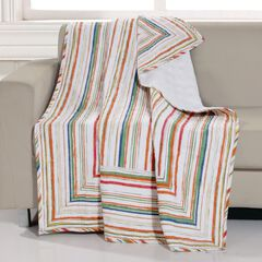 Greenland Home Fashions Sunset Stripe Quilted Throw Blanket,