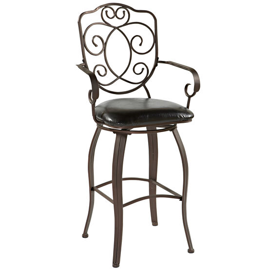 """Crested Back Counter Stool, 24""""H, POWDER"""