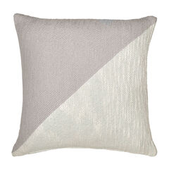 Colorblock Decorative Pillow, GREY WHITE