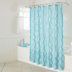 Lucy Gingham Shower Curtain,