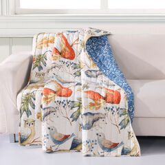 Barefoot Bungalow Willow Quilted Throw Blanket,