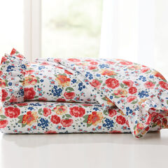 BH Studio Microfiber Sheet Set, RED FLORAL