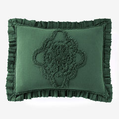Madison Chenille Sham, EVERGREEN