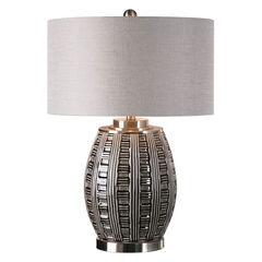 Aura Ash Black Glaze Lamp,