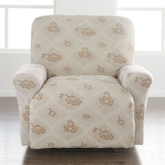 Floral Stretch Recliner Slipcover, MOONSTONE