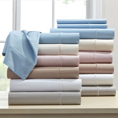 600-TC Cotton Solid or Striped 4-Pc. Sheet Set,