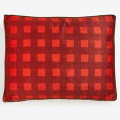 Large Brushed Fleece Buffalo Plaid Pet Bed,