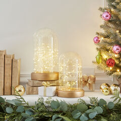 Small Gold Fairy Light Cloche ,