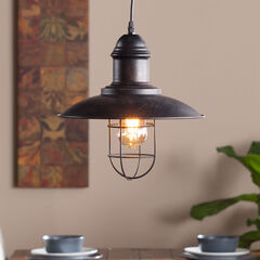 Industrial Cage Pendant Lamp, BLACK COPPER