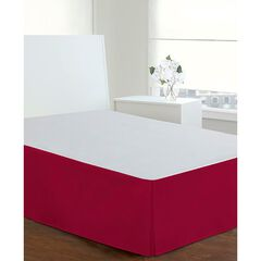 "Luxury Hotel Classic Tailored 14"" Drop Red Bed Skirt,"