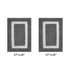 "Hotel Collections Bath Mat Rug 2 Piece Set (17"" X 24"" | 17"" X 24""),"