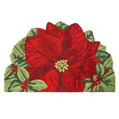 Half-Round Poinsettia Mat,