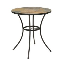 Round Table with Slate Top by 4D Concepts,