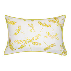 Indoor & Outdoor Embroidered Dragonflies Decorative Pillow,