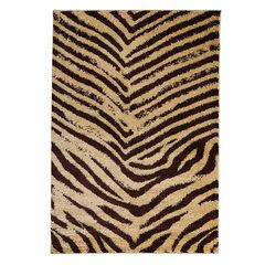 Zebra Rug, BEIGE BROWN