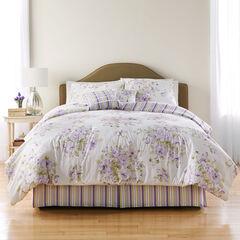 Cabbage Rose 6-Pc. Comforter Set, LAVENDER WHITE