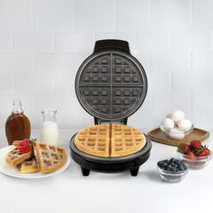 Kalorik Belgian Waffle Maker, Black and Stainless Steel,