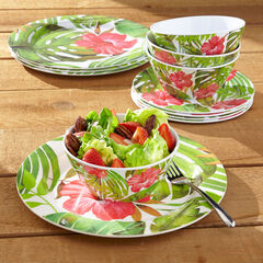 Hibiscus 12-Pc. Dinnerware Set, MULTI