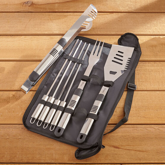 7-Pc. Stainless Steel Grill Set , STAINLESS