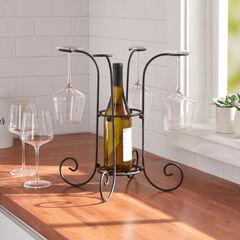 Wine Bottle & Glass Holder,