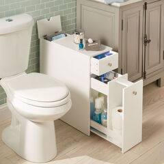 Slim Bath Cabinet, WHITE