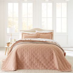 3-Pc. Diamond Embossed Bedspread Set,