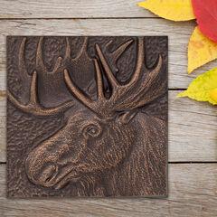 "Moose 8"" x 8"" Indoor Outdoor Wall Decor,"