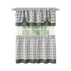Callie Window Curtain Tier Pair and Valance Set - 58x24,