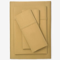 300-TC. Smooth Wrinkle-Resistant Cotton Sheet Set, GOLD