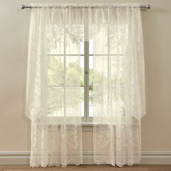 Amie Lace Ascot Valance, IVORY