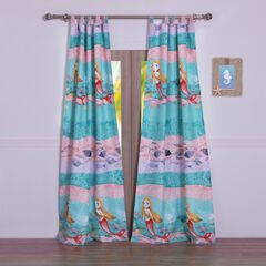 Mermaid Curtain Panel Pair by Greenland Home Fashions,