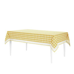 Buffalo Check Tablecloth - 60-in x 104-in,